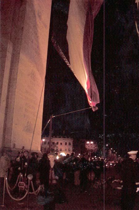 La Flamme Eternelle à l'Arc de triomphe le 11 novembre 2008