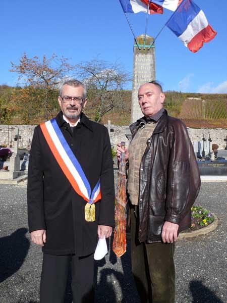 La Flamme Eternelle portée à Nanteuil sur Marne le 11 novembre 2008