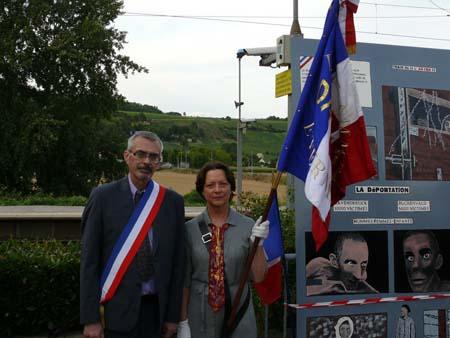 Photos de la cérémonie en gare de Nanteuil-Sâacy en 2008